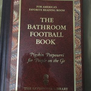 Other - Football bathroom reader